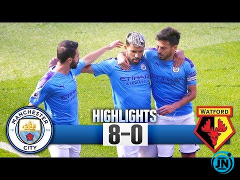 Manchester City vs Watford 8-0 - All Highlights & Goals